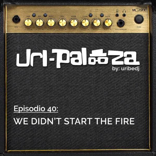 ícono podcast uripalooza Delorean We Didnt Start The Fire